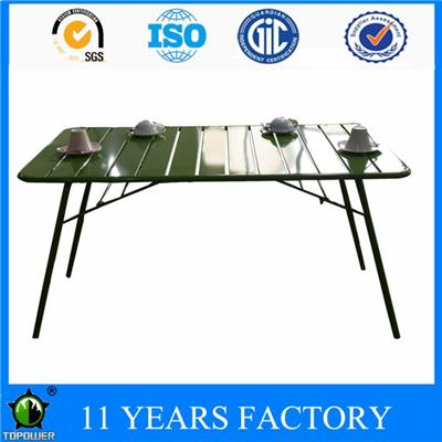Full Metal Rectangle Party And Picnic Use Garden Folding Dining Table