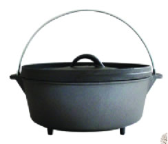 Wax Finish Cast Iron Camping Dutch Oven