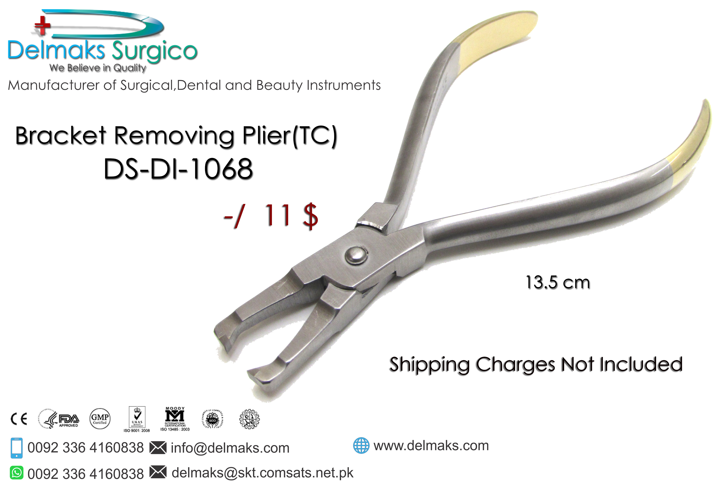 Bracket Removing Plier(TC)-Orhtodontic Pliers-Orthodontics-Dental Instruments-Delmaks Surgico