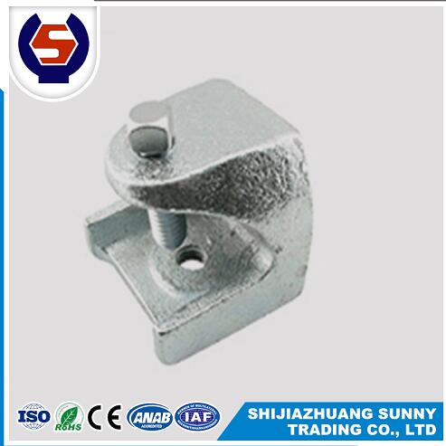 zinc plated malleable casting 1/2 3/8 rod insulator beam clamp