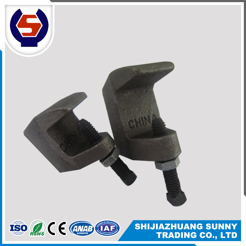 galvanized Plain 3/8 Malleable Iron top Beam Clamp