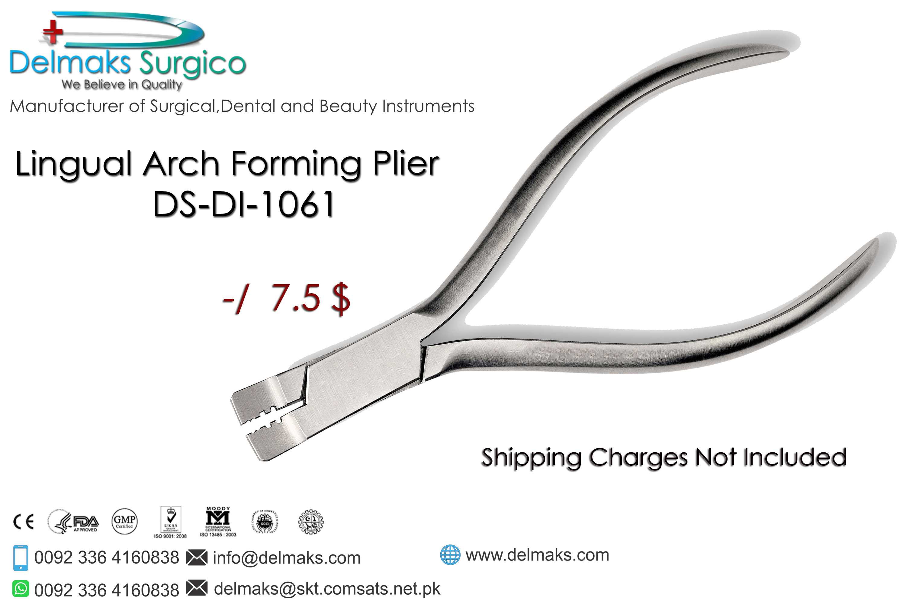 Lingual Arch Forming Plier-Orthodontic Pliers-Orthodontic Instruments-Dental Instruments-Delmaks Surgico