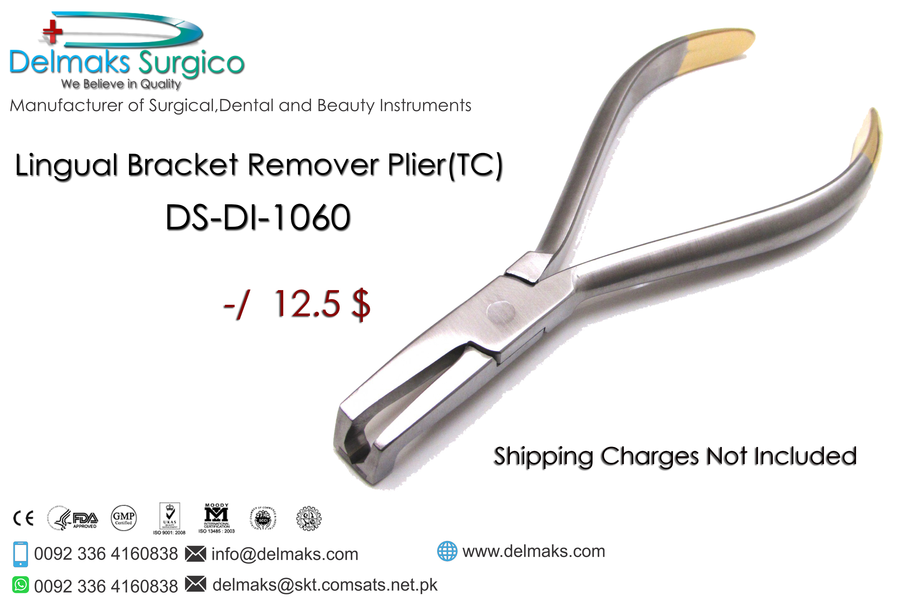 Lingual Bracket Remover Plier(TC)-Orthodontic Pliers-Orthodontic Instruments-Dental Instruments-Delmaks Surgico