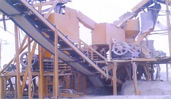 production line of sand and stone