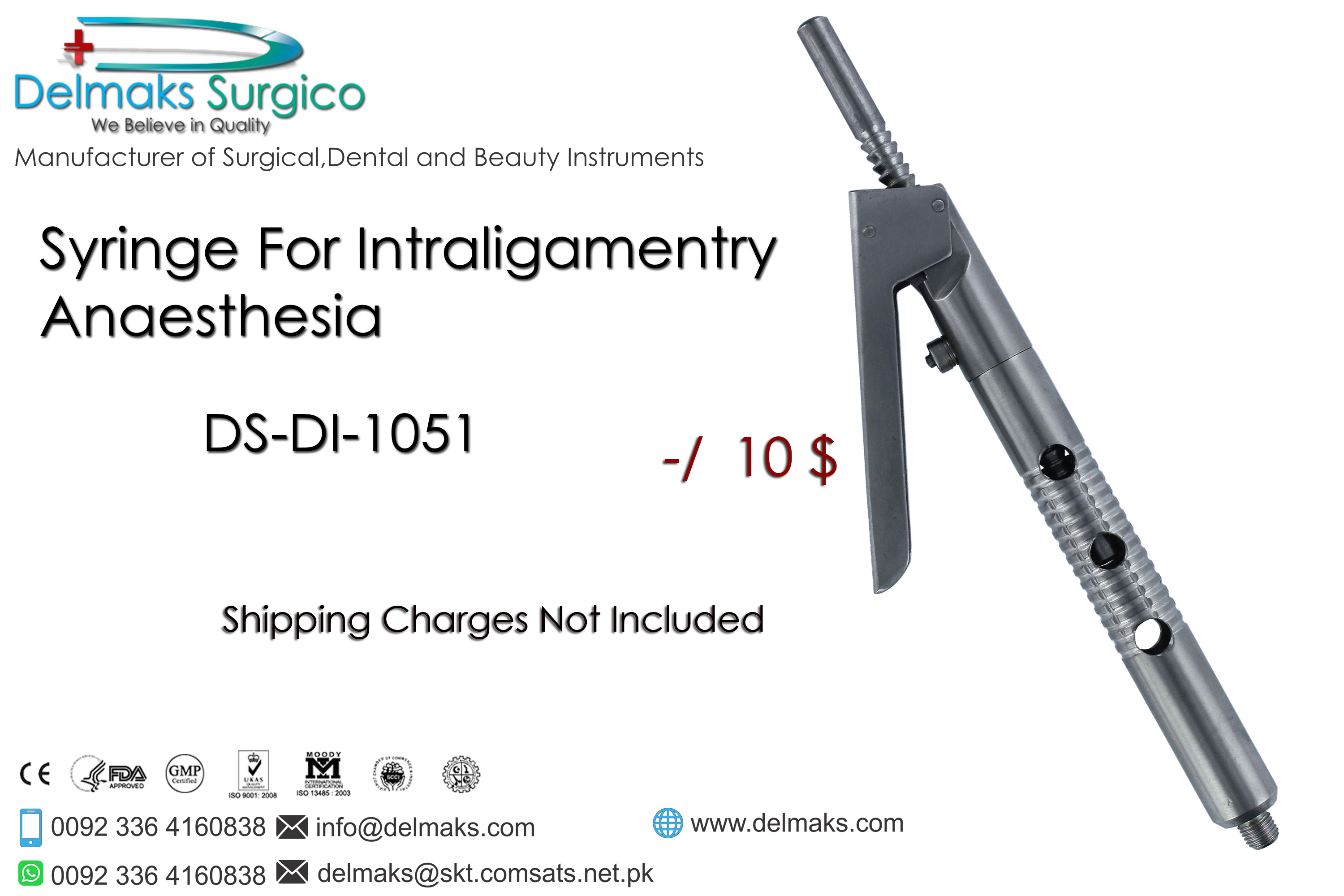 Syringe For Intraligamentry Anaestheria-Dental Syringes-Dental Instruments-Delmaks Surgico