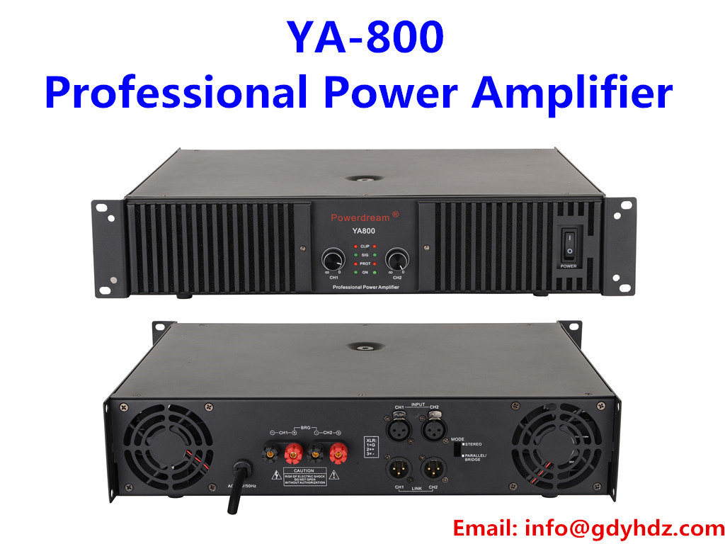 800W*2 professional power amplifier audio amplifier