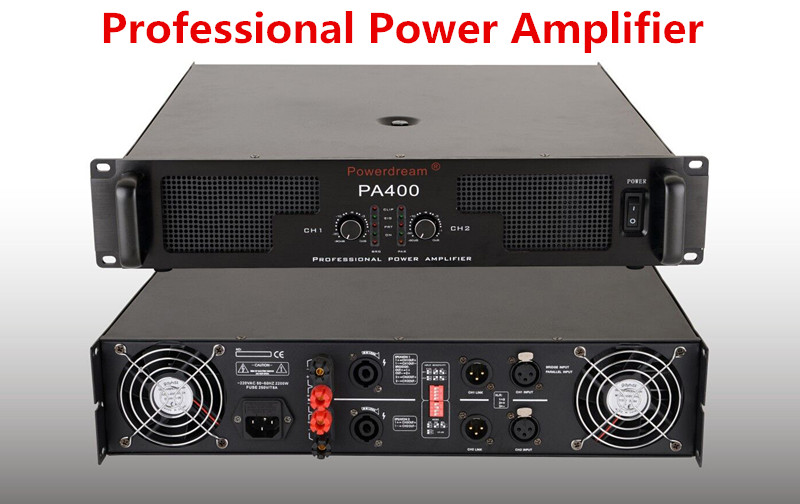 400W*2 professional amplifier with superior sound