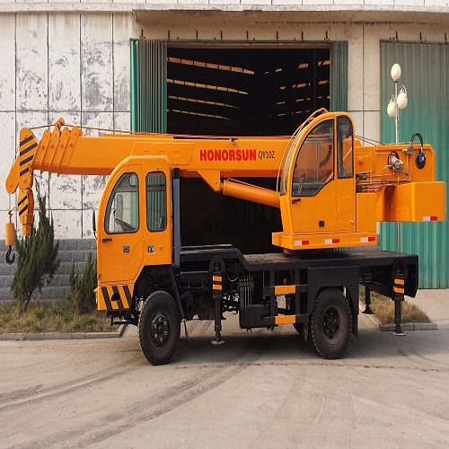 self-made chassis mini XCMG/SANY truck crane 10 ton lifting capacity
