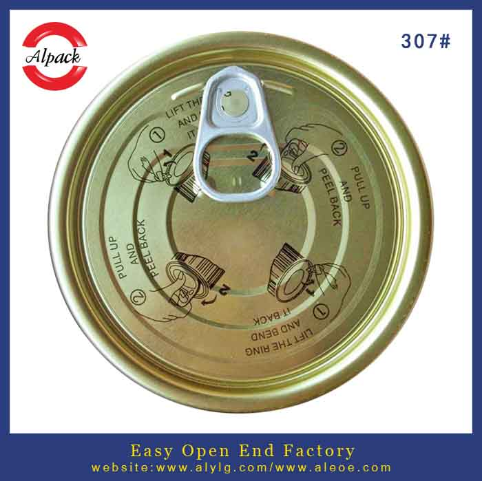 307 tinplate easy open can lids