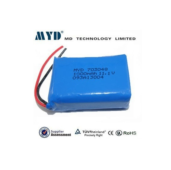 rechargeable polymer battery 703048 1000MAH telephone li-po battery