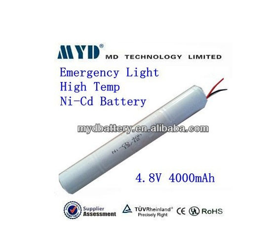NiCd D 4.8v 4ah +70degree high temperature rechargeable batteries
