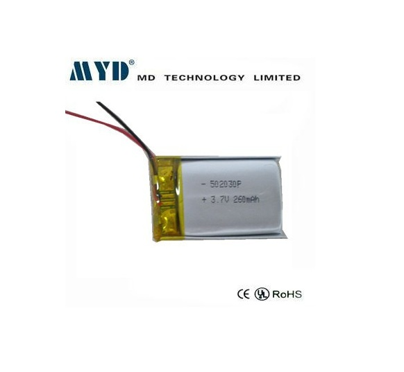 052030 502030 5*20*30 mm 3.7v 250mah lithium polymer battery