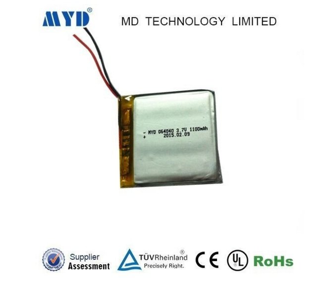 064040 3.7v 1100mah polymer li-ion battery