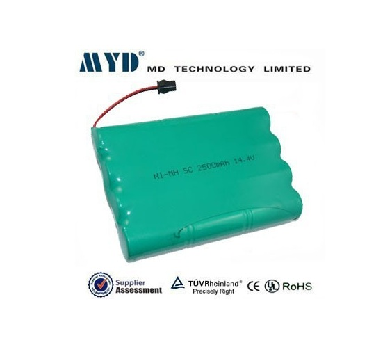MYD sub c 2.5ah 14.4v nimh rechargeable battery