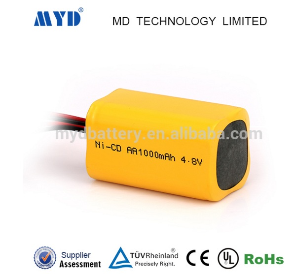 Ni-CD 4.8v 1000mah High performance NiMH 4.8 Volt 1000 mAh NiCd battery pack rechargeable