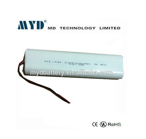 sub c nicd rechargeable battery 9.6v 2500mah for led flashlight