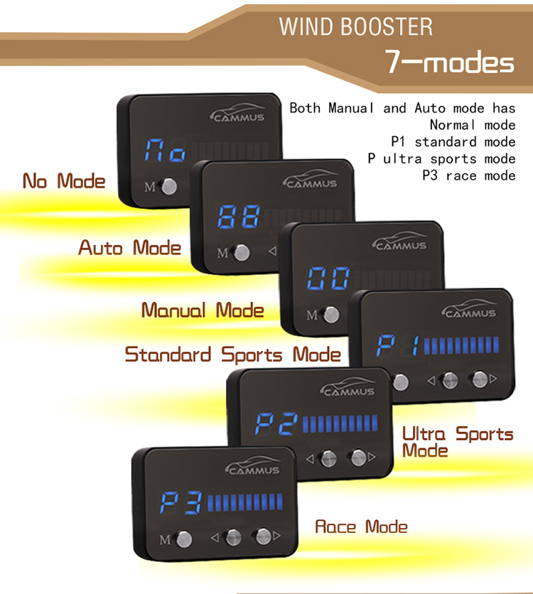 Windbooster car performance parts 7-mode electronic throttle controller