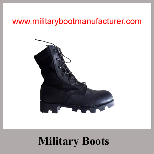 Wholesale China Made Split Leather Army Jungle DMS Boot with Panama Sole