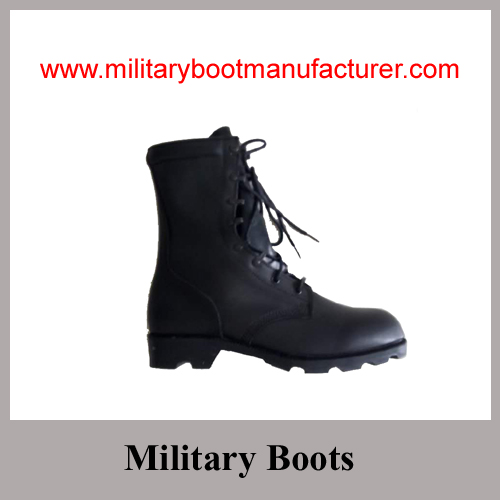 Wholesale China Made Full Grain Leather Military Combat DMS Boot with Turtle Sole