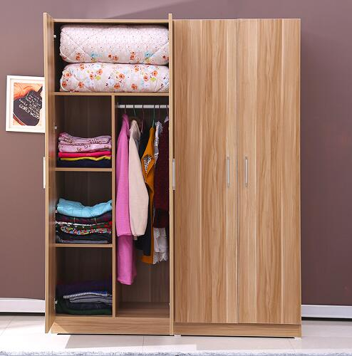 Three/two doors melamine particle board modern clothespress