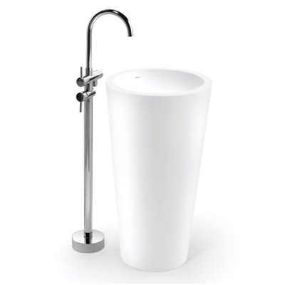 BPB005 Moulded Made Solid Surface Free Standing Basin