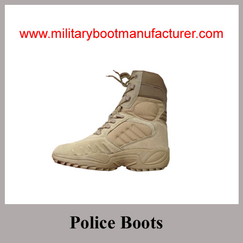 Wholesale China made Full Grain Suede Tan Color Military Tactical Desert Boots