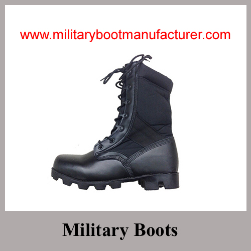 Wholesale China made Genuine Leather Military Jungle Boots with Panama Soles
