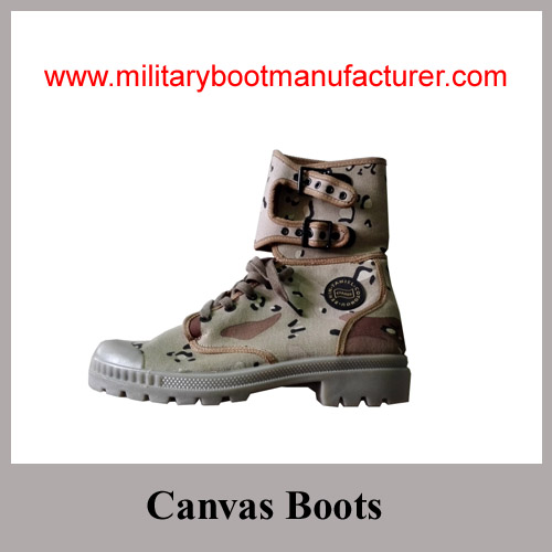 Wholesale China Made Benin Army Camouflage Thick Cotton Canvas Boots
