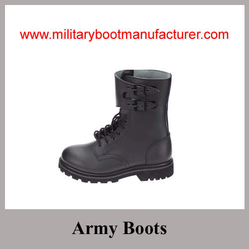 Wholesale China made First Layer Leather Black Military Goodyear Boots