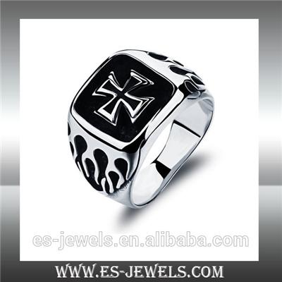 Punk Style High Quality Cross Ring Jewellery GJ469