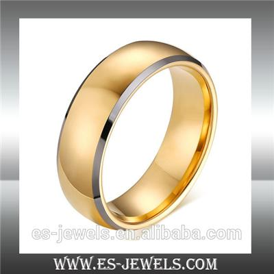 New Arrival 8MM Gold Color HQ Tungsten Rings ESTR08