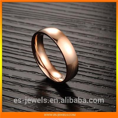 Trendy Rose Gold Plated Titanium Ring Jewelry GJ424