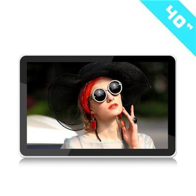 40inch Indoor HD Advertising Digital Signage Wall Mount TFT LCD / LED Touch Panel Screen Display