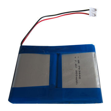 China Shenzhen Rechargeable Li-polymer Battery Pack, With 7.4V Nominal Voltage Li-polymer Battery 2 Series Connection