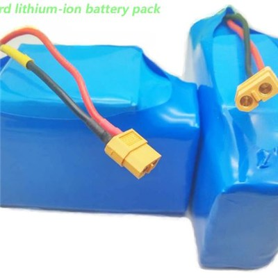 Hot Selling 10S2P Connection 36v 4.4Ah Lithium-ion Scooter Battery Pack with Plugs Ready to Use for Hoverboard