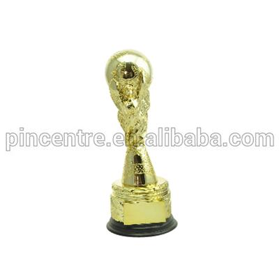 Soccer Trophy With Woden Base