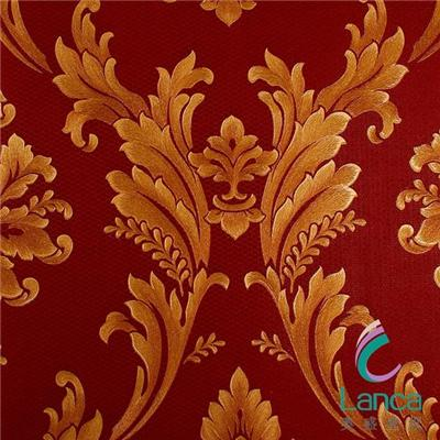 Price Good Quality Hot Classic Damask Living Room Pvc Wallpaper LCPE1341057