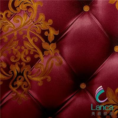 Price Good Quality Hot Classic Damask Living Room Pvc Wallpaper LCPE1320701