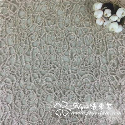 Elastic Nylon Lace Fabric with Lotus Lca65132