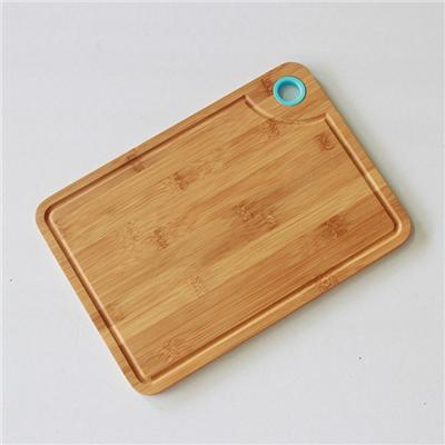 3Pcs Bamboo Cutting Board With Silicone Ring With Different Color