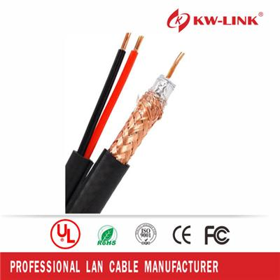 High Quality Rg59 CCS Coaxial Cable with 1 Pair Power Cable