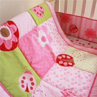 Baby Age Group Pink Floral Baby Girl Quilt For Four Seasons