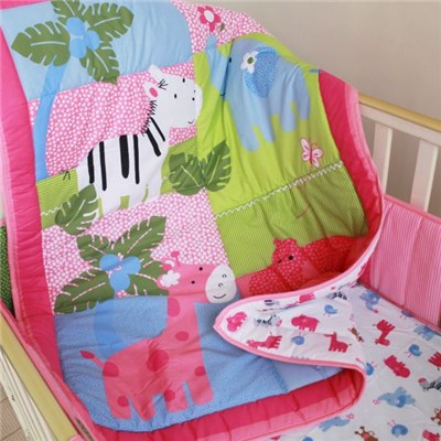 Pink Animal Baby Girl Duvet Cross Stitching Style China Supplier