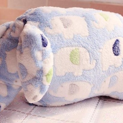 Cheap Baby Blanket Toy Soft Baby Fleece Blanket With Plush Elephant Toy