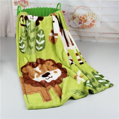 Wholesale 100% Polyester Printed Coral Fleece Baby Blanket