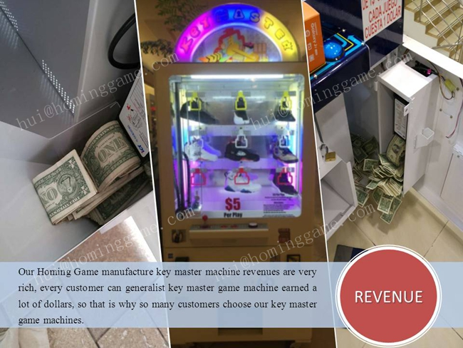 2017 most popular Golden mini key master game machine/keymaster/arcade game Key