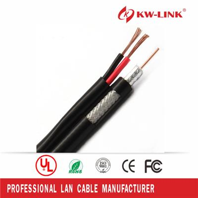 20AWG 0.81mm Rg59 Coaxial Cable with Power Cable for CCTV use