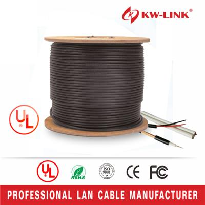 20AWG 1.02mm Rg6 CCS Coaxial Cable with Power Cable for CCTV use