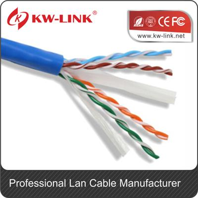 250FT Solid CAT6E CM 550-Mhz, High-Performance 23-AWG Copper Bulk Cable, Blue