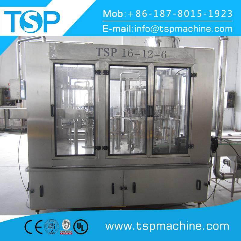 Carbonated drink glass bottle filling and packaging machine